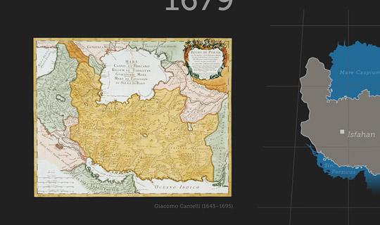 Persien-Landkarte