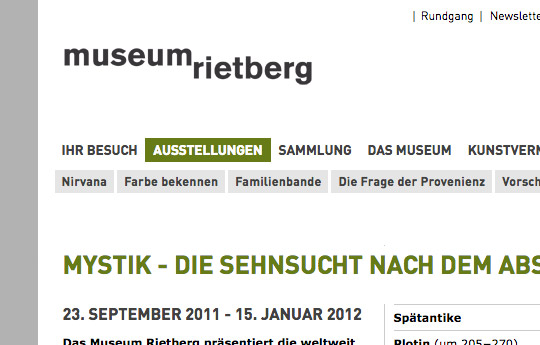 Museum Rietberg (Website)